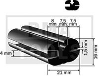 Goma, 21x16 mm, 20 m