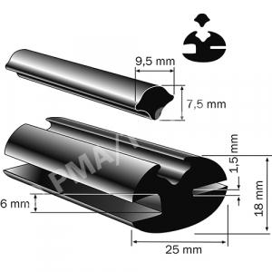 Goma, 25x18 mm, 25 m