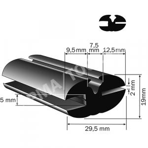 Goma, 29,5x19 mm, 15 m