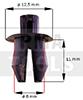 Grapa torpedo/panel interior, negro