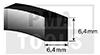Perfil espuma termo autoadh., 6,4x6,4 mm, 20 m