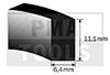 Perfil espuma termo autoadh., 6,4x11,1 mm, 20 m